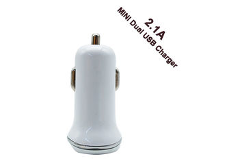 China Fast 2.1A Mini USB Car Charger With LED Lamp Compatible For IOS Android supplier
