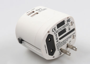 China Most Popular AC Output 6A Travel Power Adapter With 2.5A Dual USB Charging Port For Business supplier