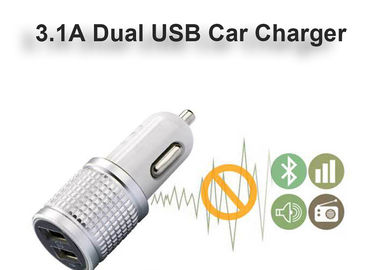High Glossy Car Charger Adapter Aluminum Alloy Bottom Cover Led Indicator Fast Charger 3.1A