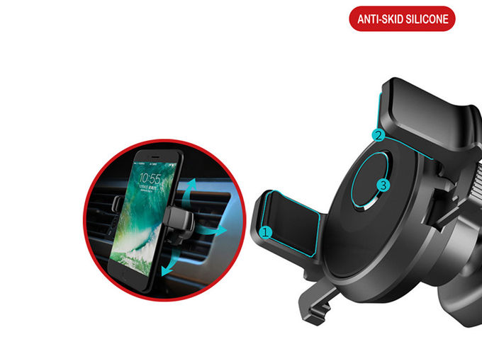 Black White Adjustable Phone Holder Mini Black Mechanical Era Car Mounted