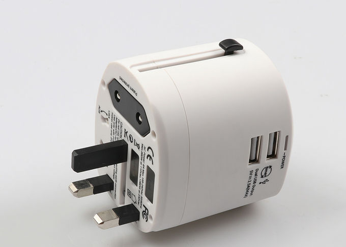 Universal Travel Power Adapter Dual USB Port 2500mA DC 5V Charger For Ipad
