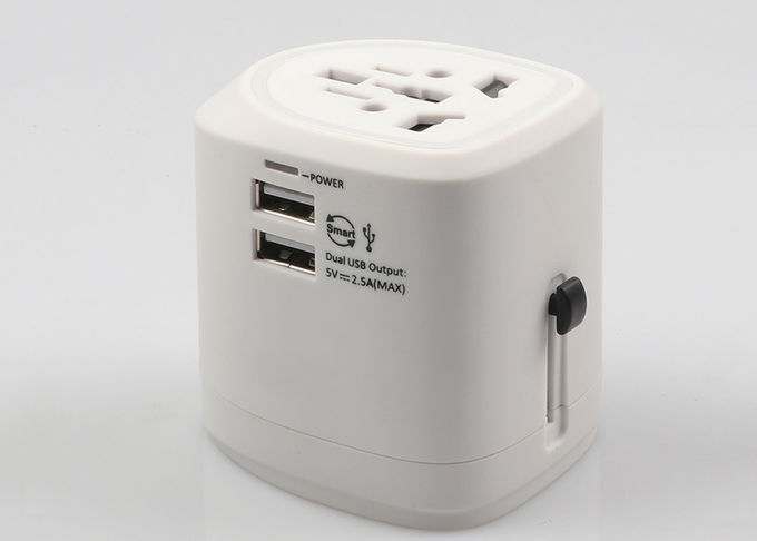 Most Popular AC Output 6A Travel Power Adapter With 2.5A Dual USB Charging Port For Business
