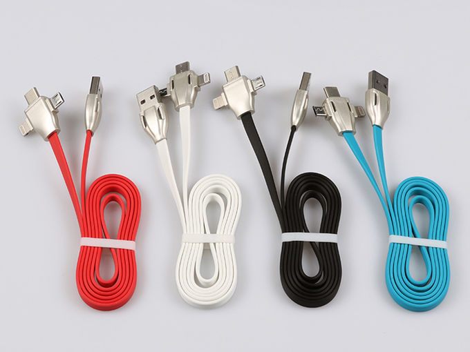 Micro/8Pin/Type C 3 In 1 Usb Data Extension Cable , Fast Charging Extending USB Cord